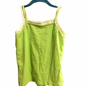 The Children's Place Green Rhinestone Cami XL 14